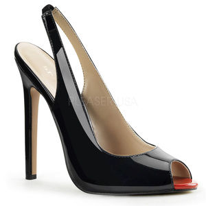 Shoes - 5 Inch High Heel Sling Back Peep Toe Pump Shoes